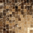 "Crema Marfil, Emperador Dark and Travertine Noce Polished (6 1/8"")"