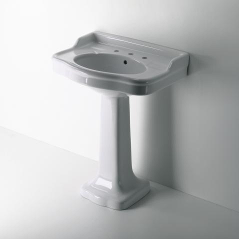 Palladio Vitreous China Pedestal Lavatory Sink 28 3/8
